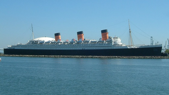 Le Queen Mary à quai à Long Beach